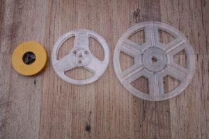 """3"""" 50ft - 5"""" 200ft - 7"""" 400ft 8mm Cinefilm reels"""
