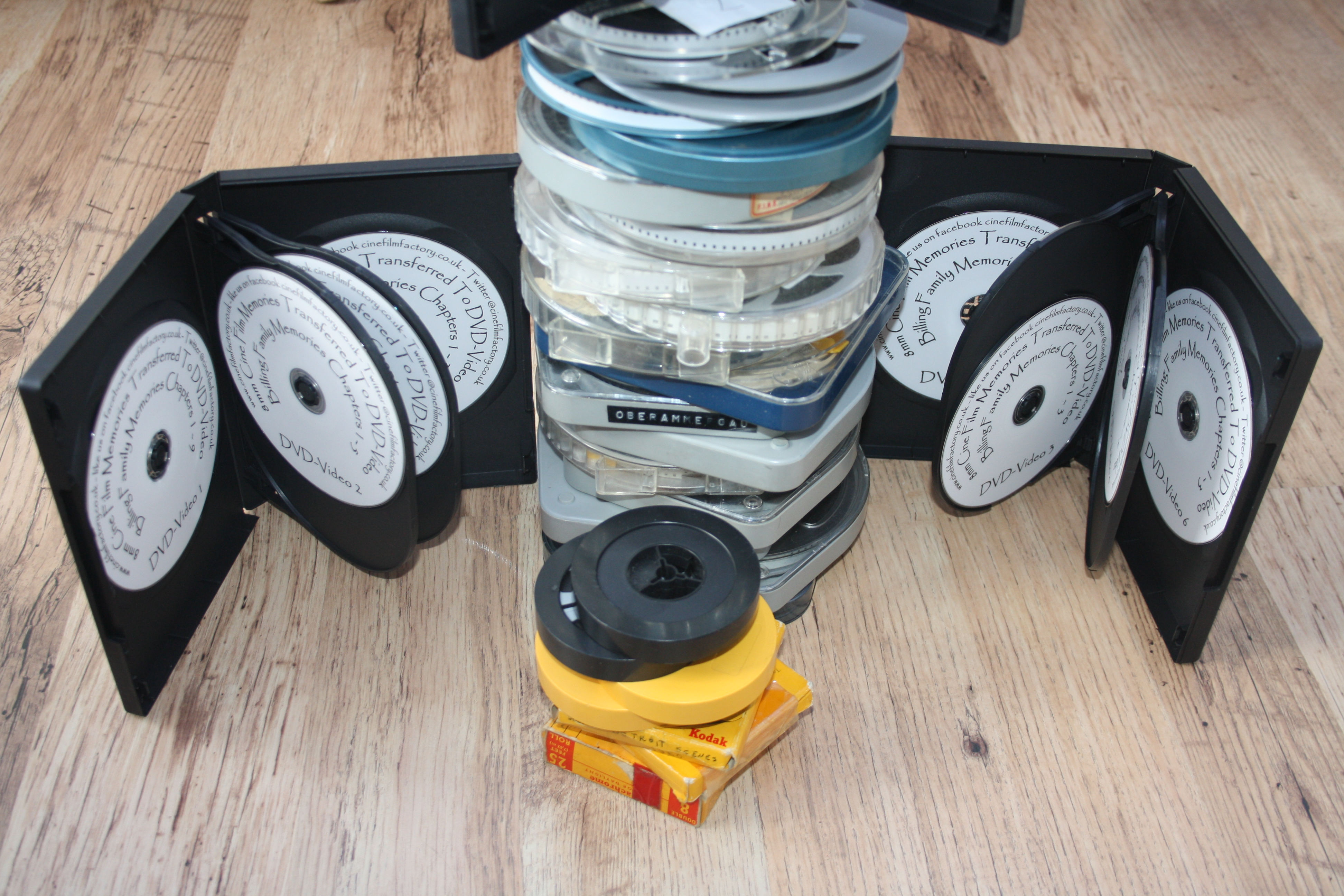 Here is a recent Customer order of 8mm Cine Films transferred to DVDs